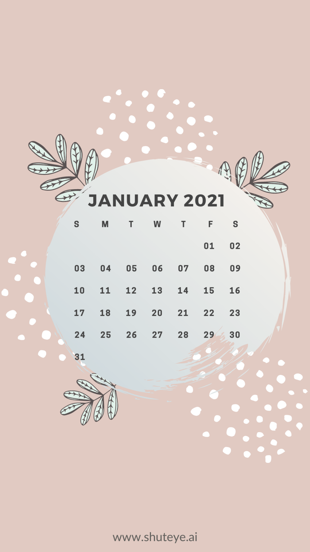January 2021 Calendar Shuteye January Calendar Calendar Wallpaper January Wallpaper