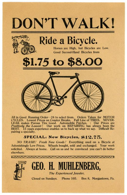 Ipernity Don T Walk Ride A Bicycle By Alan Mays Bicycle Broadside Poster Broadside