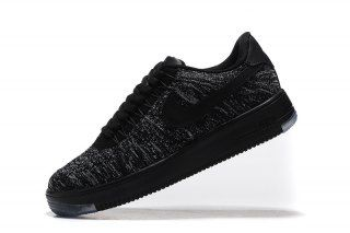 ee49ef75916 Nike Air Force 1 Ultra Flyknit Low Black Cool Grey 817420 010 Mens Womens  Sneakers
