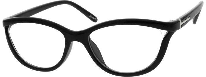 74854f2e779f 2014 Plastic Full-Rim Frame  black  glasses  eyeglasses  zenni   zennioptical  cateyes