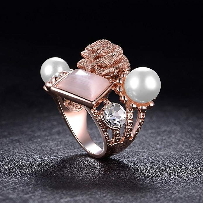 Amazon Discount: Save 50% on dnswez Statement Rings Rose ...