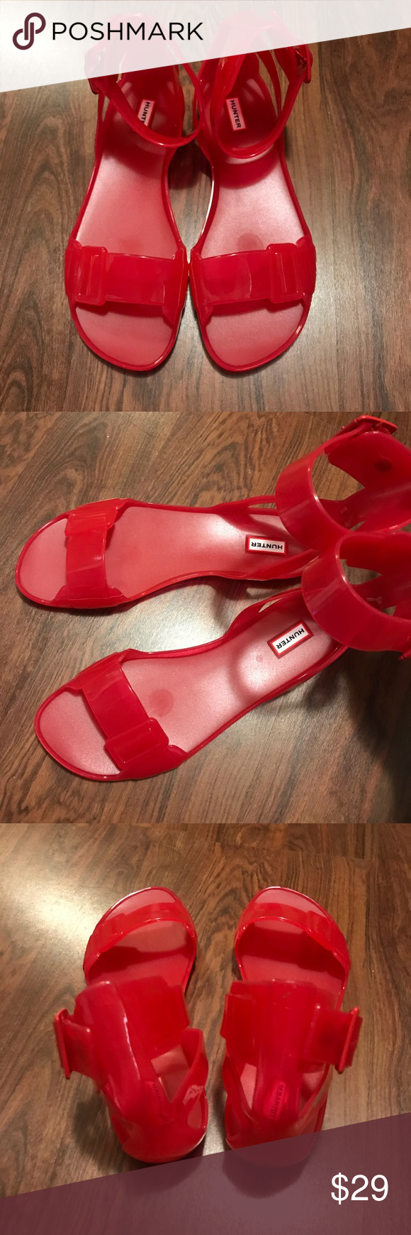 30c41ceac88d Hunter Original Open Toe Jelly Sandal Hunter takes the rain or shine style  you love into must-have jelly sandals. Open toe  buckled ankle strap.