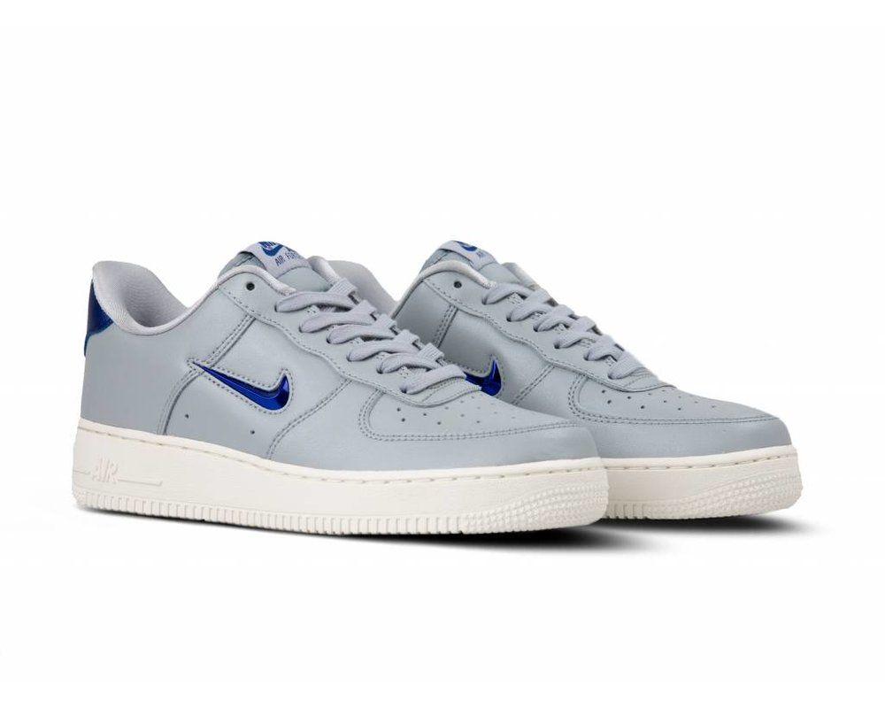 Nike Air Force 1 '07 LV8 LTHR Wolf Grey Deep Royal Blue