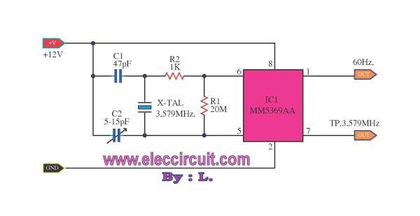 Circuit 60hz clock pulse generatorg 600309 ic clock circuit 60hz clock pulse generatorg 600309 ccuart Choice Image