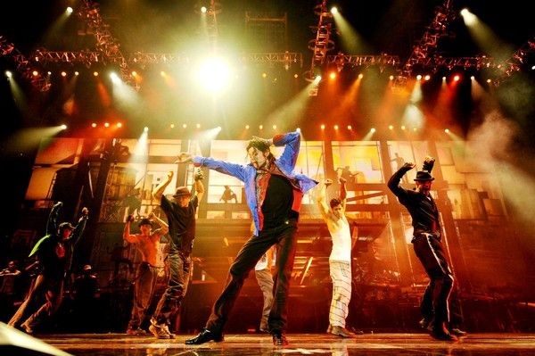 Michael Jackson 'this is it'-rehearsal; 2nd to the left: Timor Steffens.