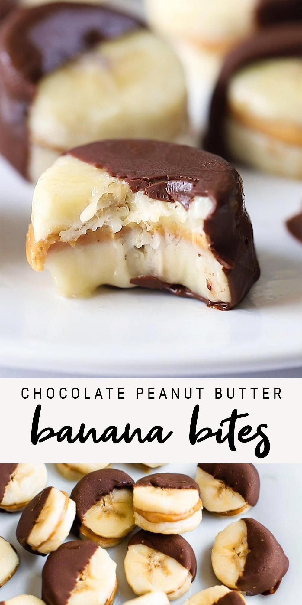 Chocolate Peanut Butter Banana Bites | Eating Bird