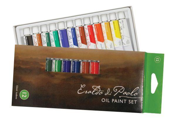 Eraldo di Paolo Oil Paint Set 12 x 12ml tubes | Oil paint set, Paint set,  Art studios