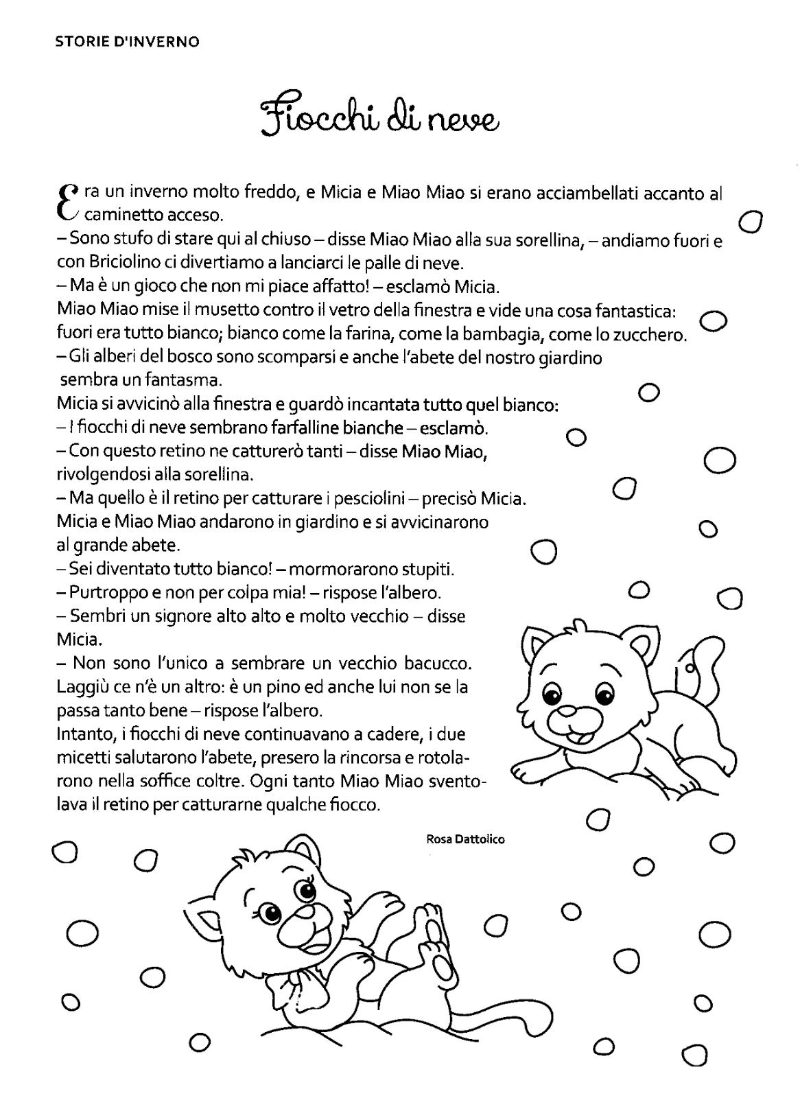 Racconti D Inverno Fiocchi Di Neve Le Idee Della Scuola Parole Di Natale Libri Di Lettura