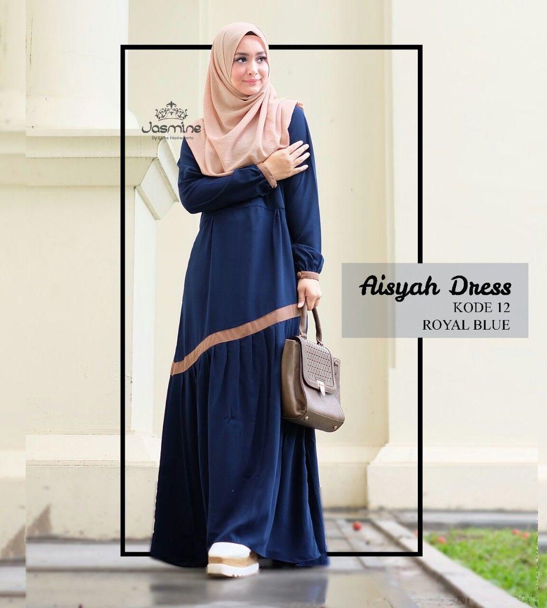 Gamis Jasmine Aisyah Dress 12 Baju Wanita Busana Muslim Syari Hijab Untukmu Yg Cantik Dan