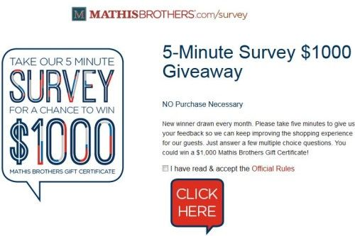 Mathis Brothers Customer Satisfaction Survey WwwMathisbrothers