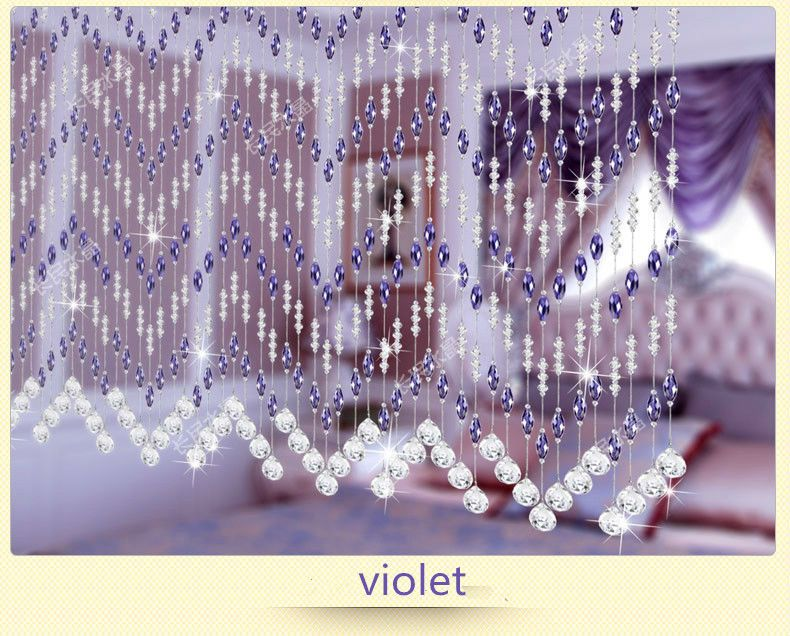 Lovely Crystal Glass Beads Curtain For Hotel Office Or Home Decor Hanging Door  Beads Curtain Christmas
