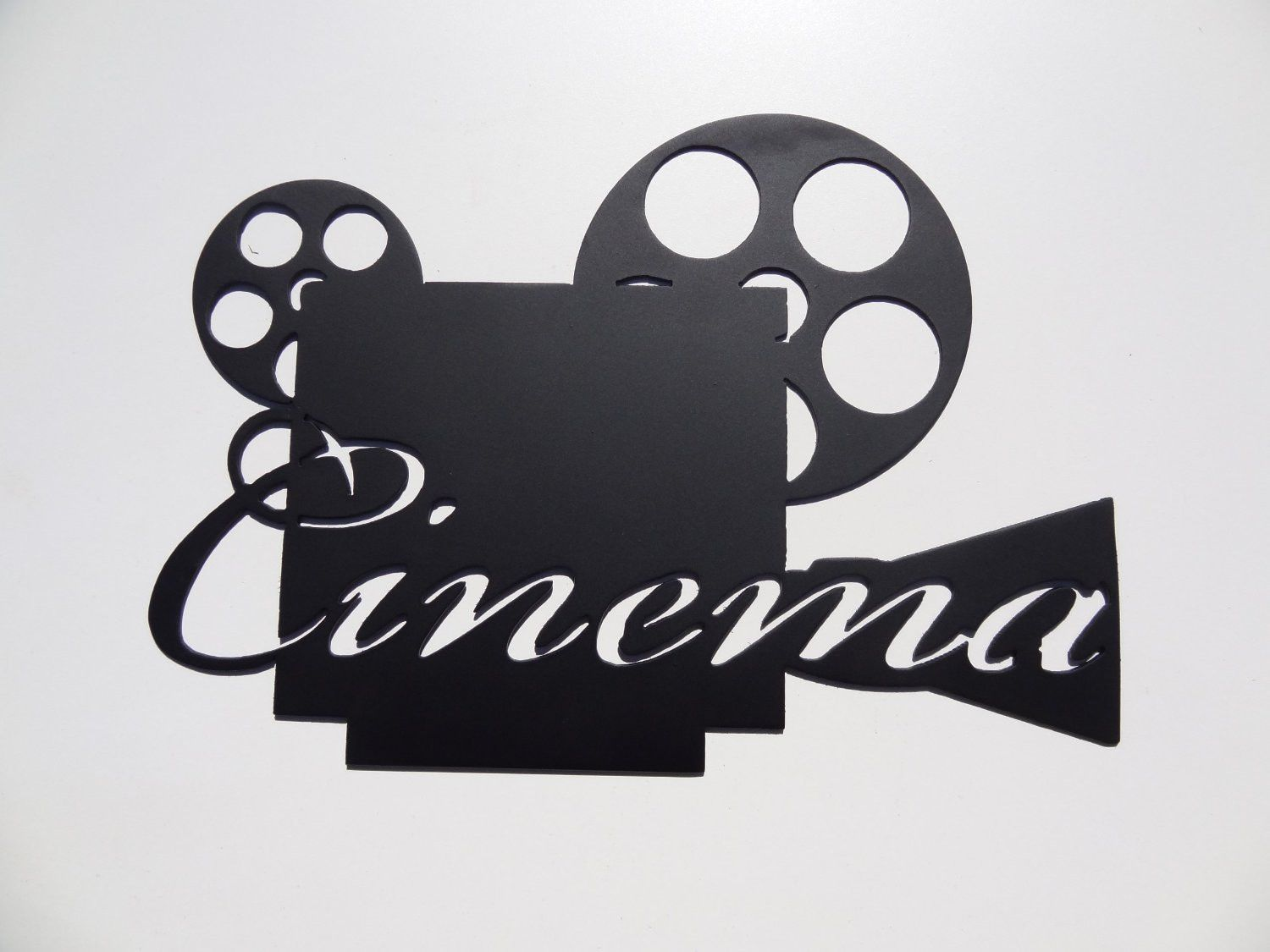 Cinema Word On Movie Projector Home Theater Decor Metal Wall Art Home Theater Decor Movie Room Decor Home Theater Furniture