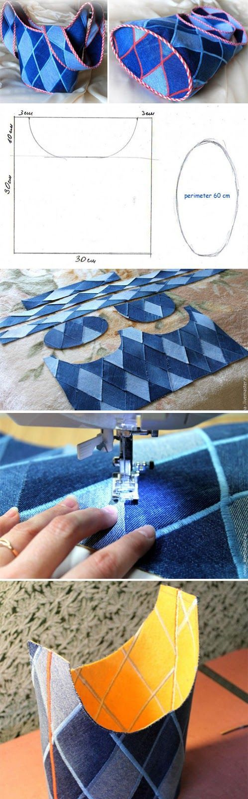 Come riciclare gli scampoli di stoffa per realizzare delle for Appendi borse fai da te