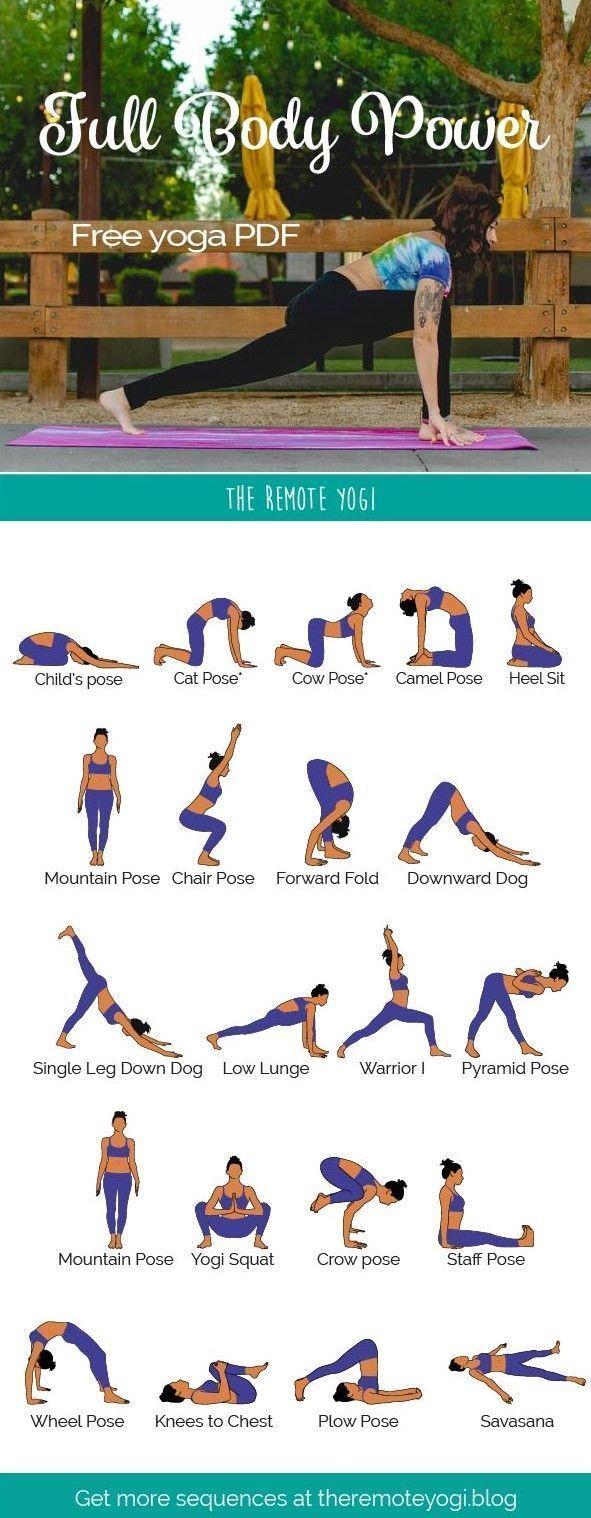 Ganzkörper-Yoga-Training – kostenloses PDF In dieser Yoga-Sequenz dreht sich alles ums Arbeiten #cardioyoga