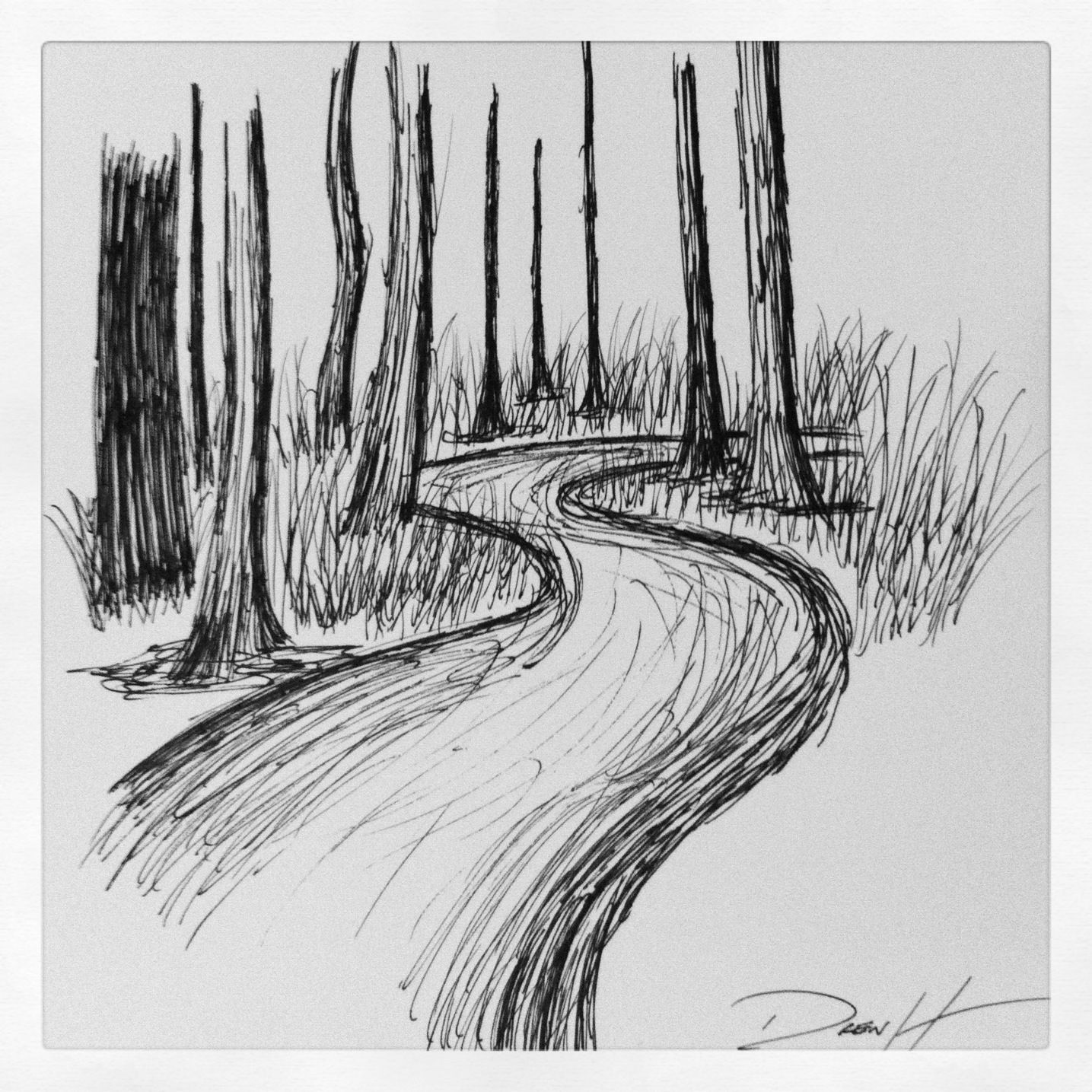 Newest Drawing Nature Sketch Nature Drawing Pen Sketch