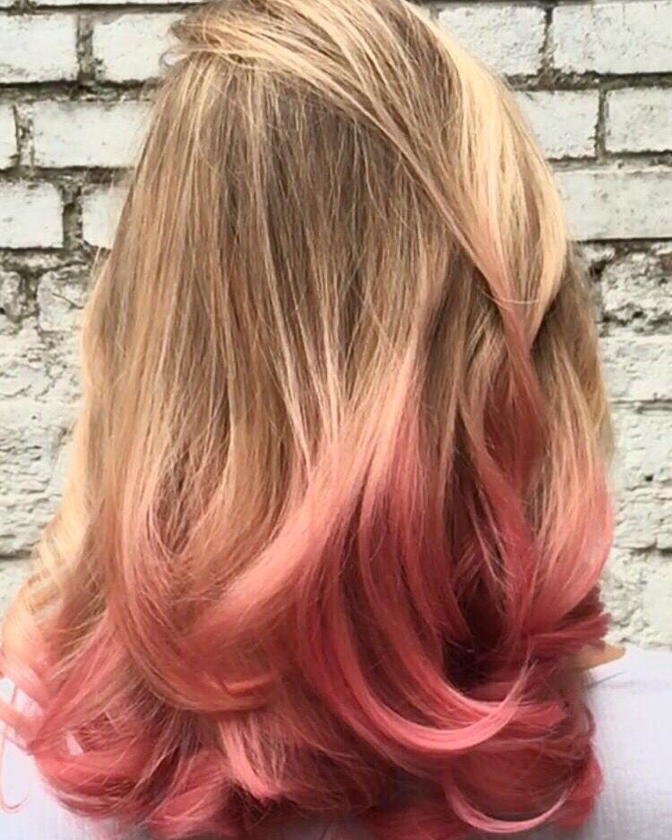 Pin By Rachel Markham On Hair Ideas Pink Blonde Hair Dyed Blonde Hair Blonde Hair With Pink Tips