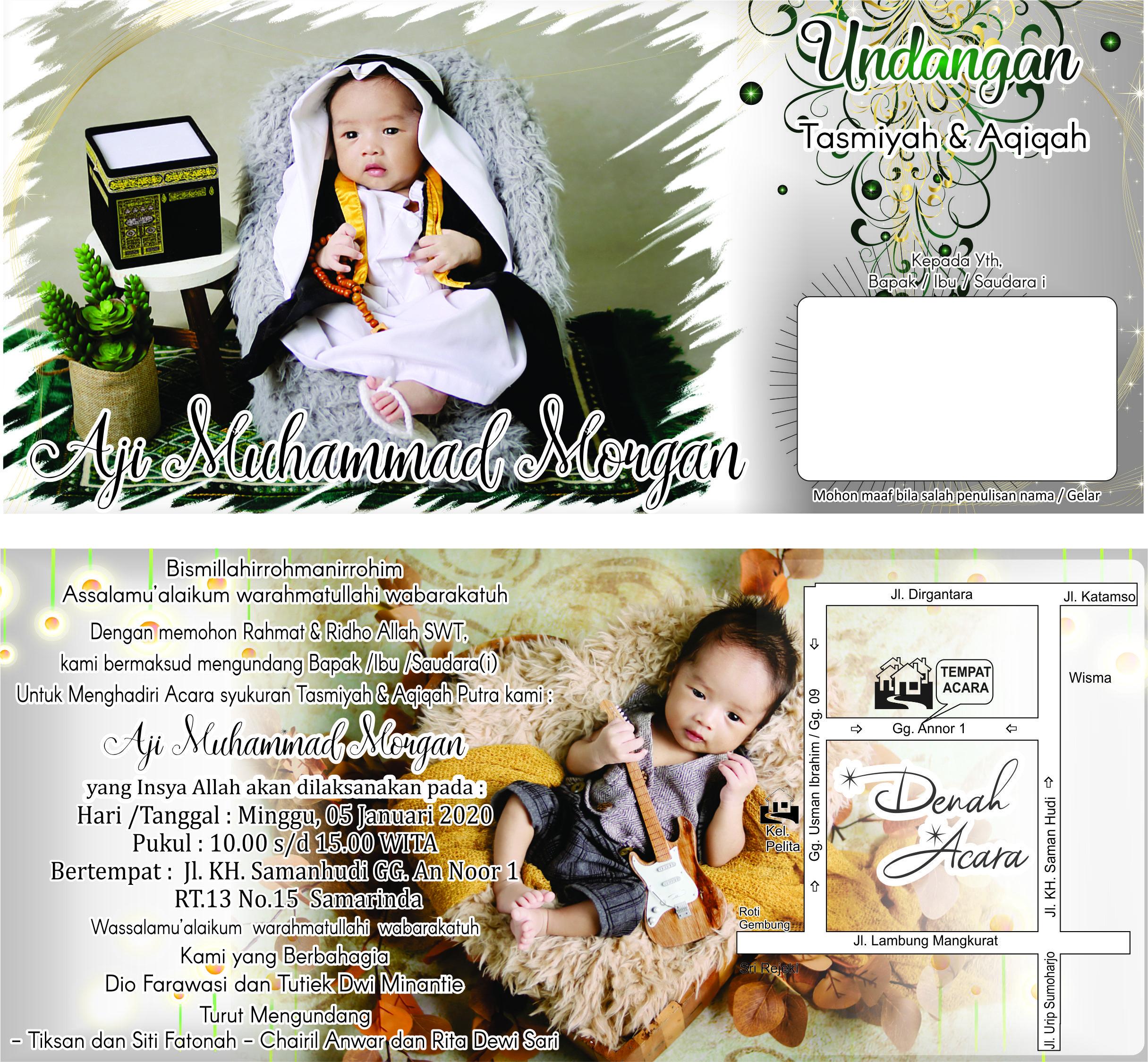 invitation tasmiyah aqiqah   Undangan, Desain undangan, Warna