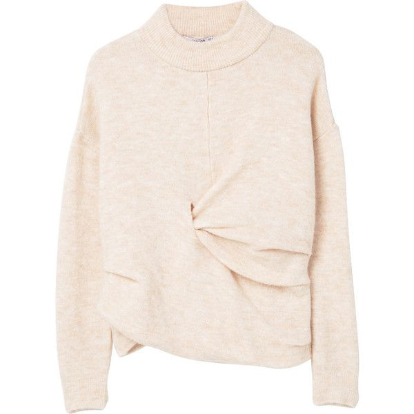 7a6ebff58828e3 MANGO Knot Detail Sweater ( 60) ❤ liked on Polyvore featuring tops ...