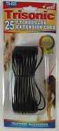 25FT TELEPHONE  EXTENSION CORD - BLACK