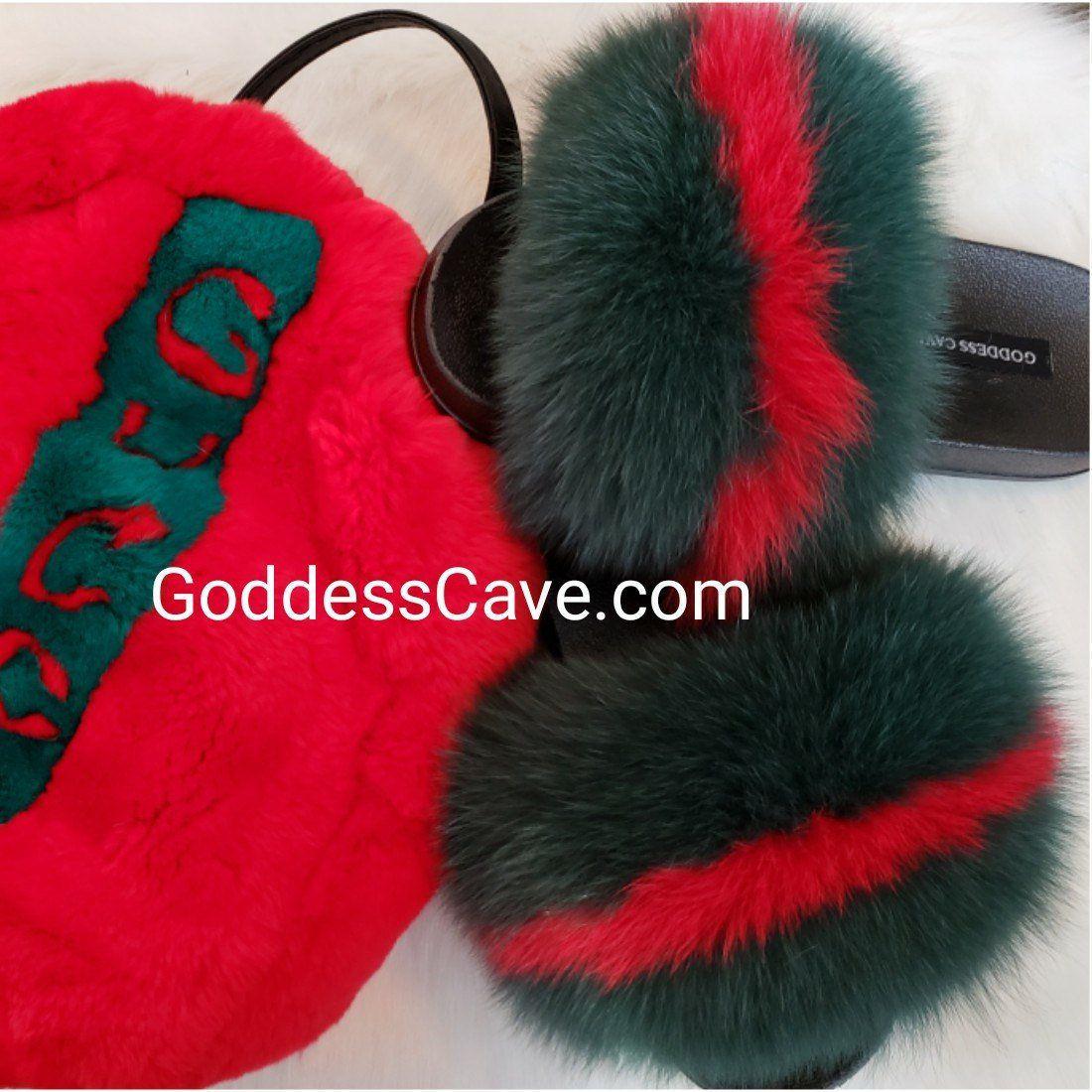 Get Gucci Fox Fur Slides Background