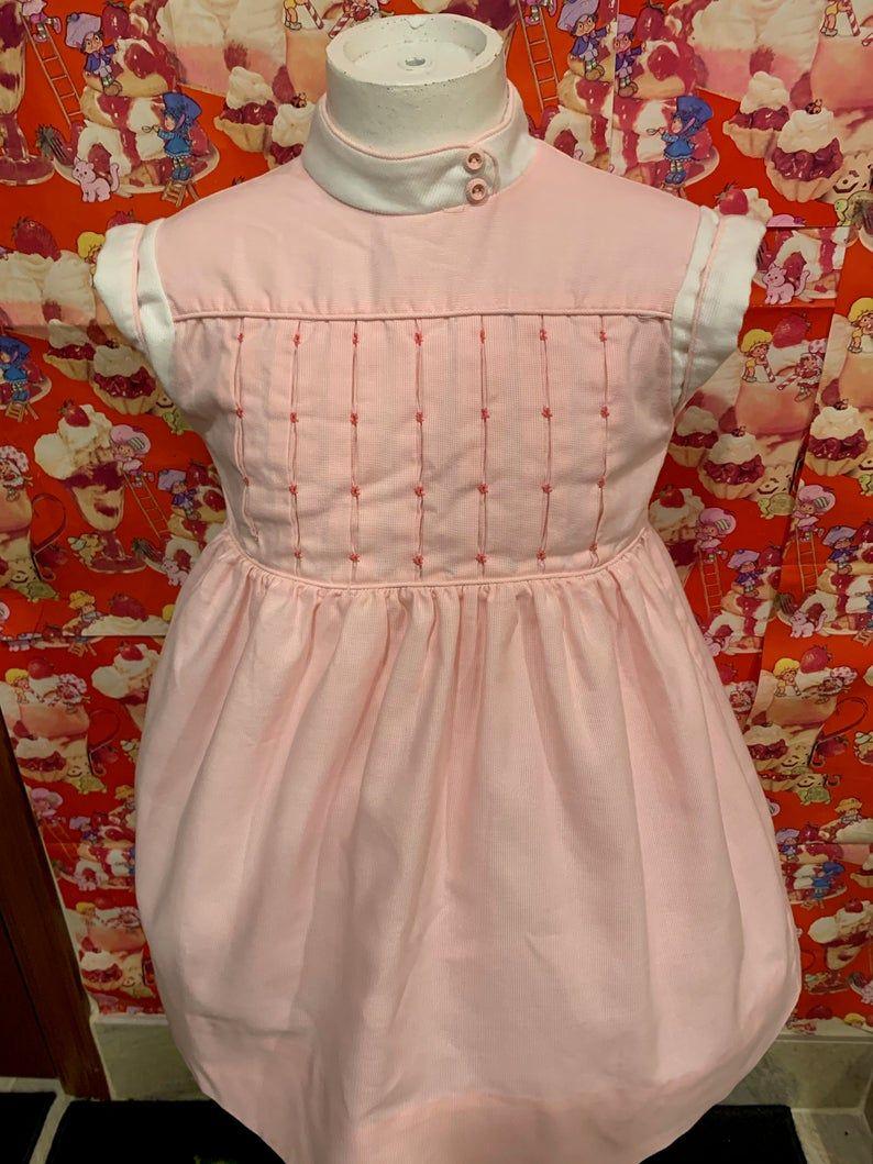 Girls 5 Pink Dress 1980s