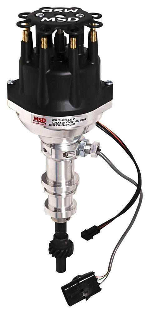 Msd Ignition 2362 Pro Billet Hall Effect Adj Cam Sync Distributor Ford 351w Hall Effect Crate Engines Sync