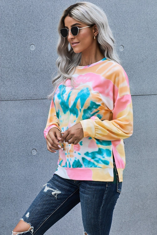 Azura Exchange Multicolor Tie Dye Sweatshirt In 2021 Tie Dye Sweatshirt Sweatshirts Women Tie Dye [ 1500 x 1001 Pixel ]