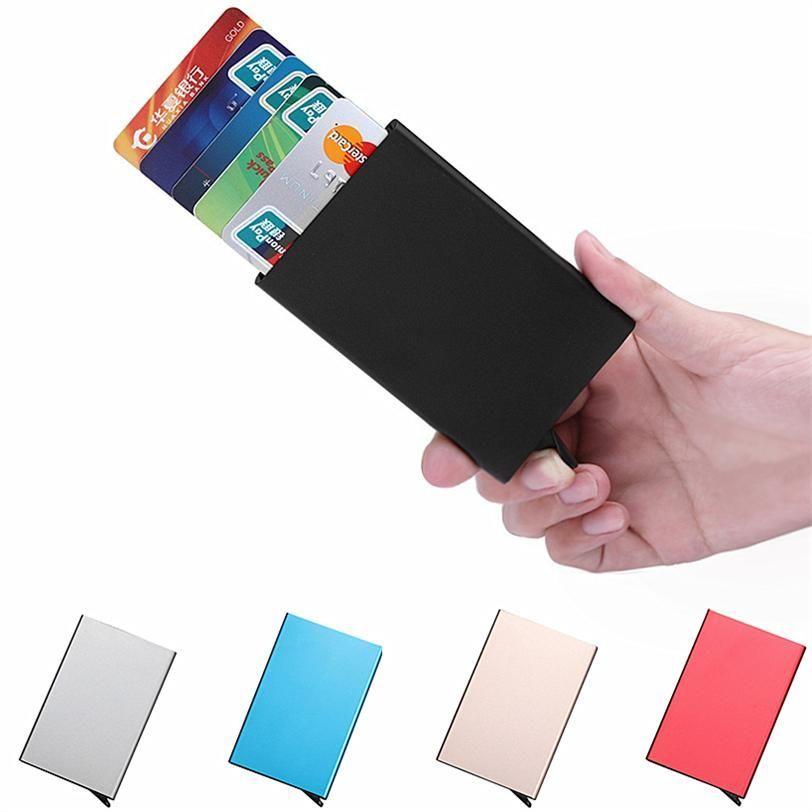 Practical Pocket Business Name Credit ID Card Case Metal Box Holder Aluminum New