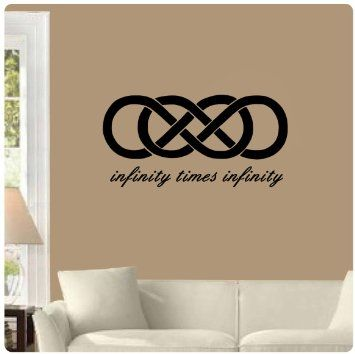 Infinity Times Double Symbol Wedding Anniversary Wall Decal X