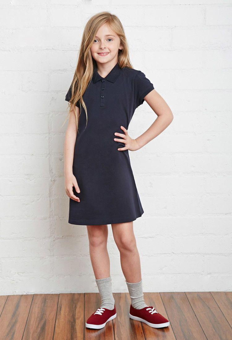 Girls School Uniform Polo Dress (Kids) Forever 21 girls