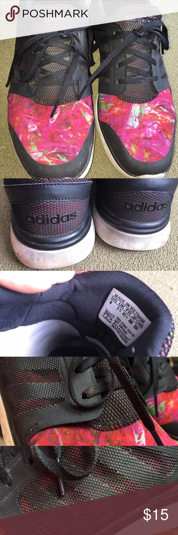 Adidas Cloudfoam Fiore Nero Rosso Nero E Scarpe Di Progettazione, Maglie