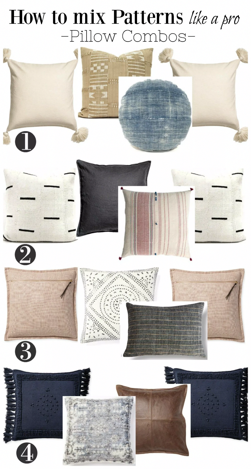 Easy Pillow Combinations Harlowe
