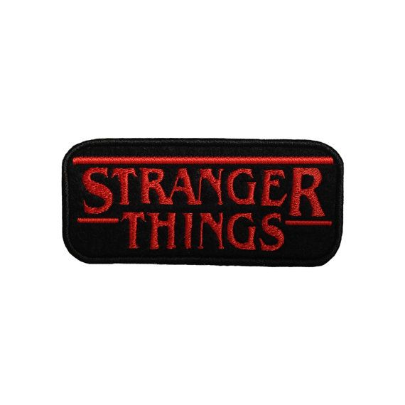 Stranger Things Patch Embroidered IRON or Sew on