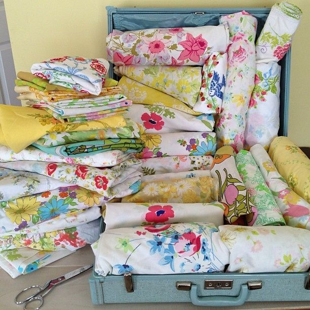 Creative Cain Cabin: Vintage Sheet Projects