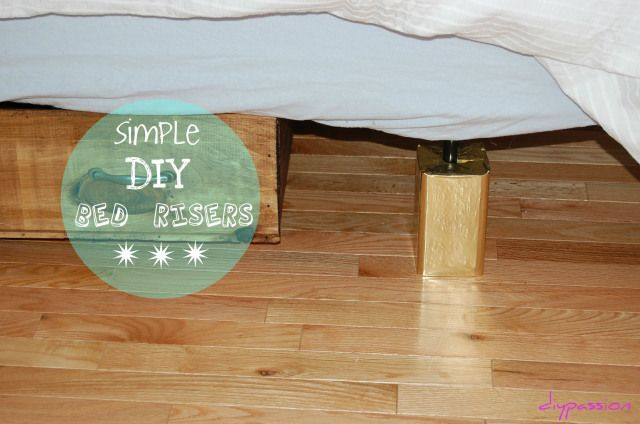 How To Make Wood Bed Risers For 2 Diy Bed Risers Diy Bed Bed