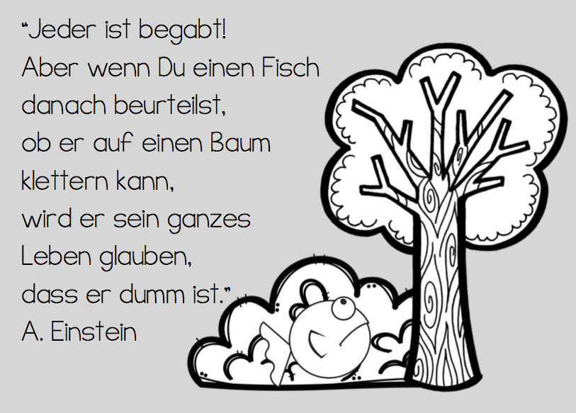 Fisch Auf Baum Zitat Albert Einstein Nachdenken Kinder