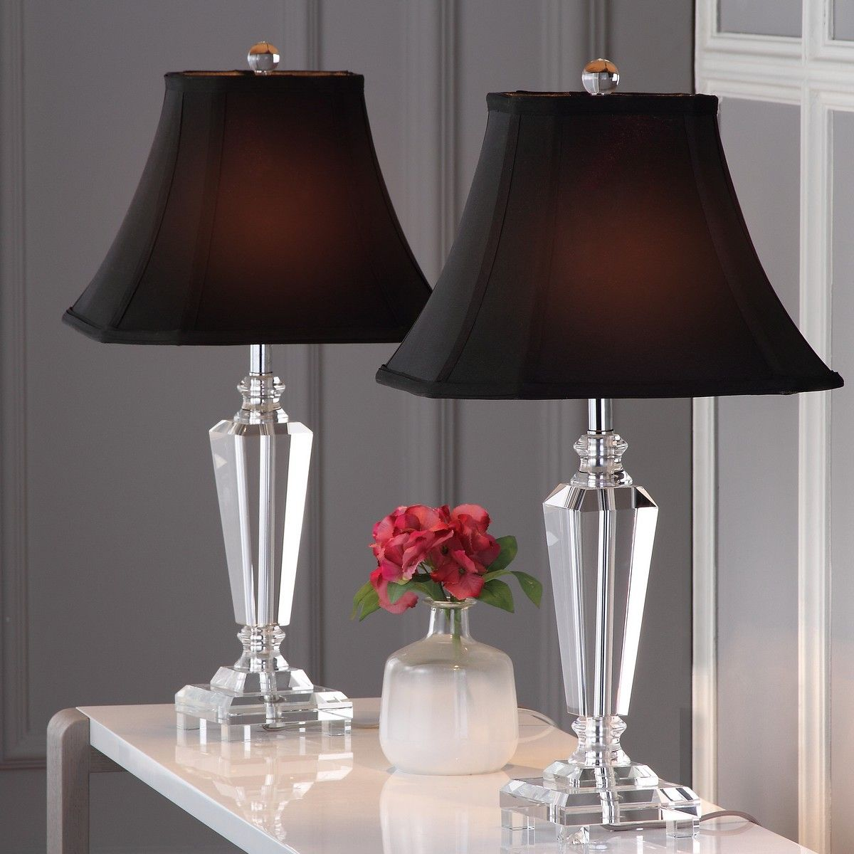 Lit4103a Set2 Table Lamps Lighting By Safavieh Crystal Table Lamps Glass Table Lamp Table Lamp Sets