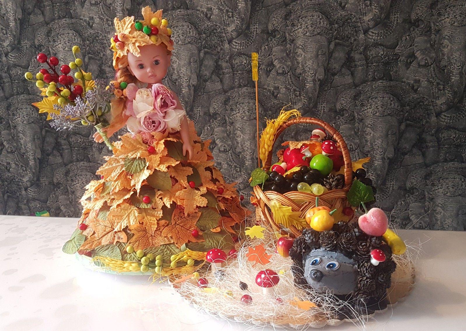 Кукла, платье золотая осень   Декоративные поделки, Осень ...