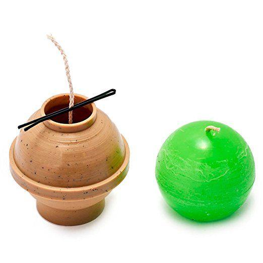 Diámetro de la bola:. 2,5 en - Esfera - 30 pies de mecha incluyen como un regalo - moldes para velas de plástico para la fabricación de velas