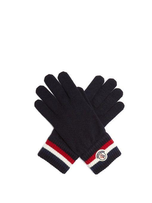 c38d3f75c809 Striped-Cuff Virgin Wool Gloves