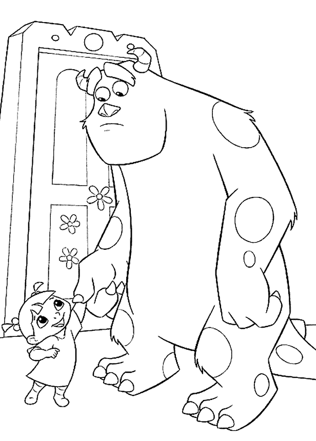 Sulley And Boo Monster Inc Coloring Pages | Disney Monsters inc. and ...