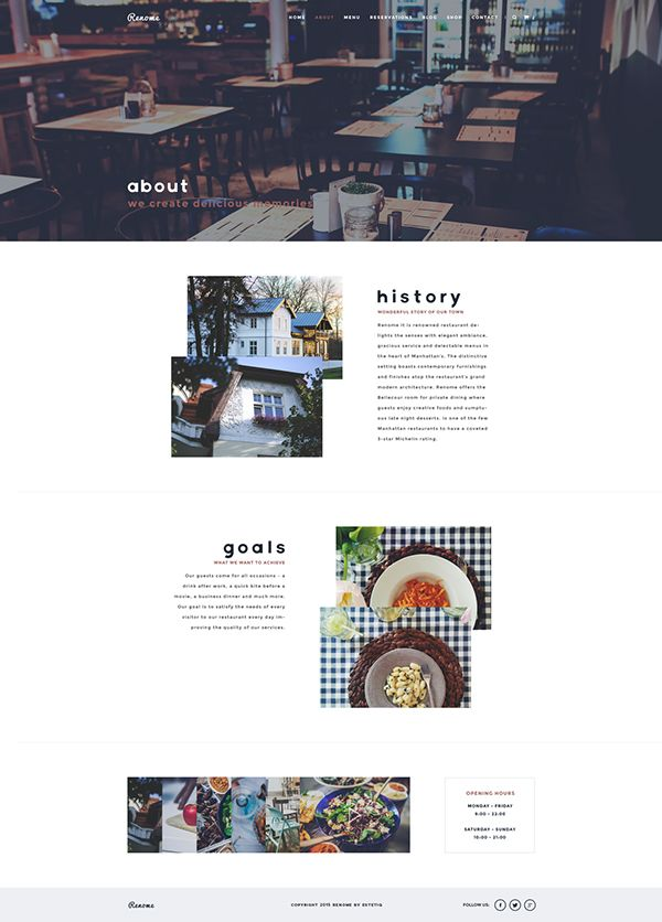renome free psd restaurant template responsive multi page and one page design - Multi Restaurant Design