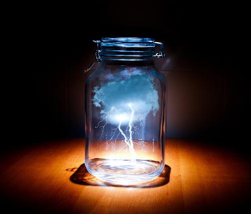 Una tormenta en un tarro de vidrio.