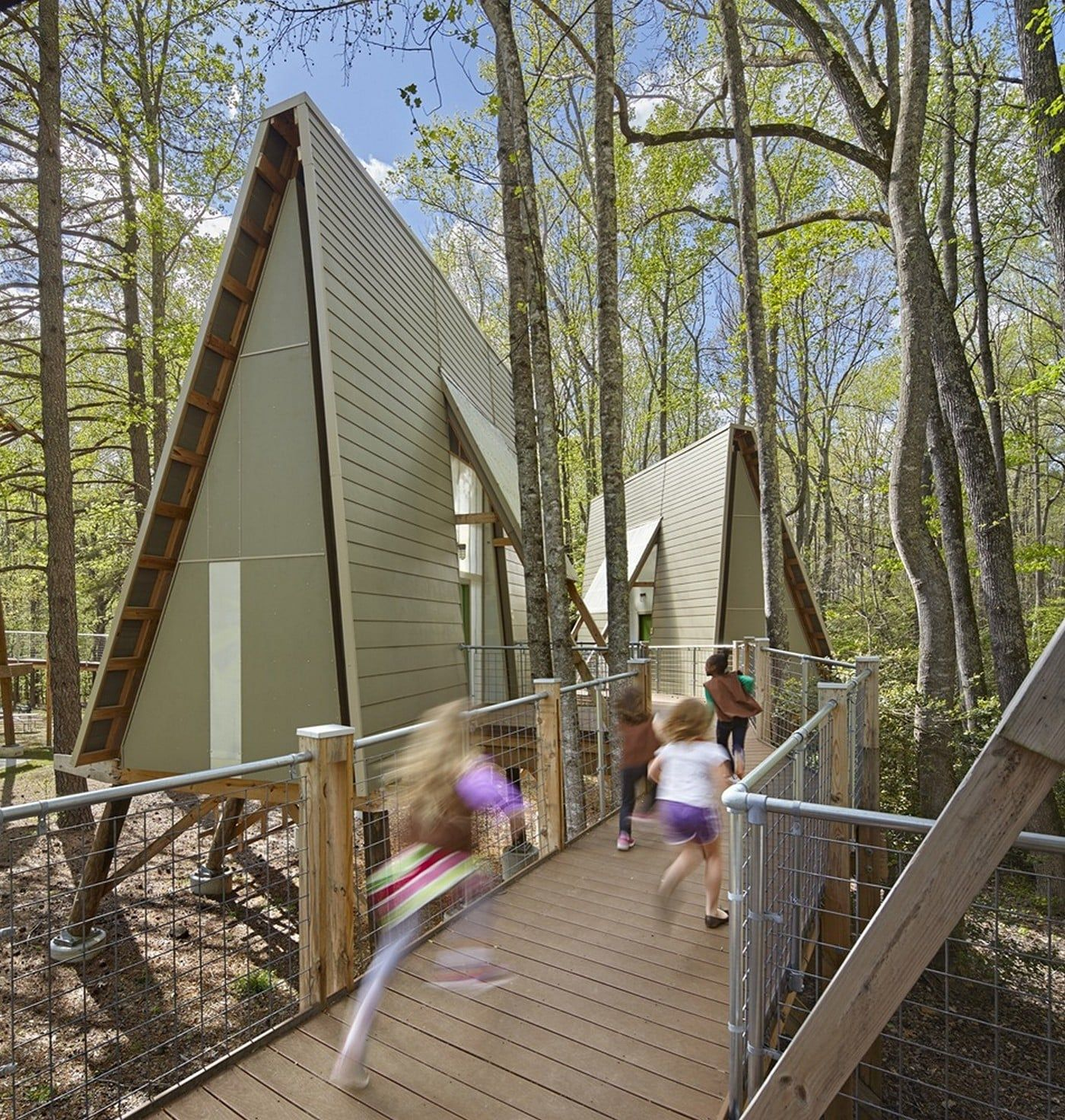 Tree House Unit At Camp Graham Weinstein Friedlein Architects