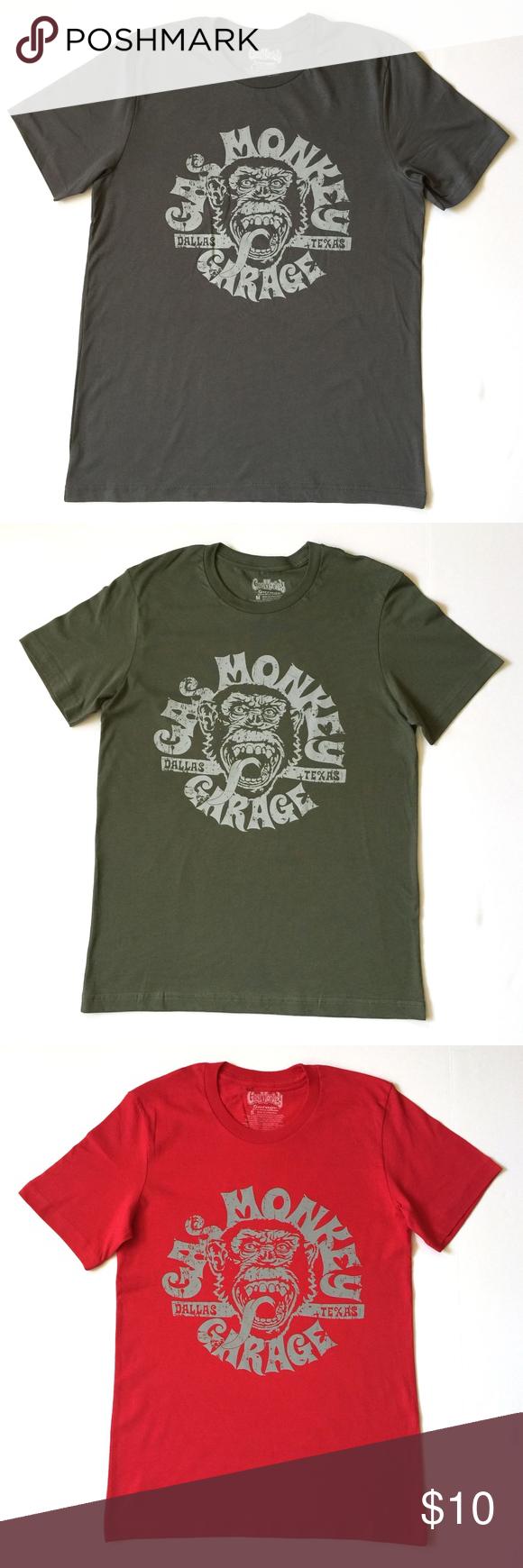 6ae04b0105e MEN'S CREW NECK T-SHIRT Product Description Crew Neck T-Shirt Adult Men 60%  Cotton 40% Polyester Description: Gas Monkey Print. Active Wear Men's Size  ...