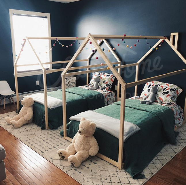 Toddler Bed House Shaped Loft