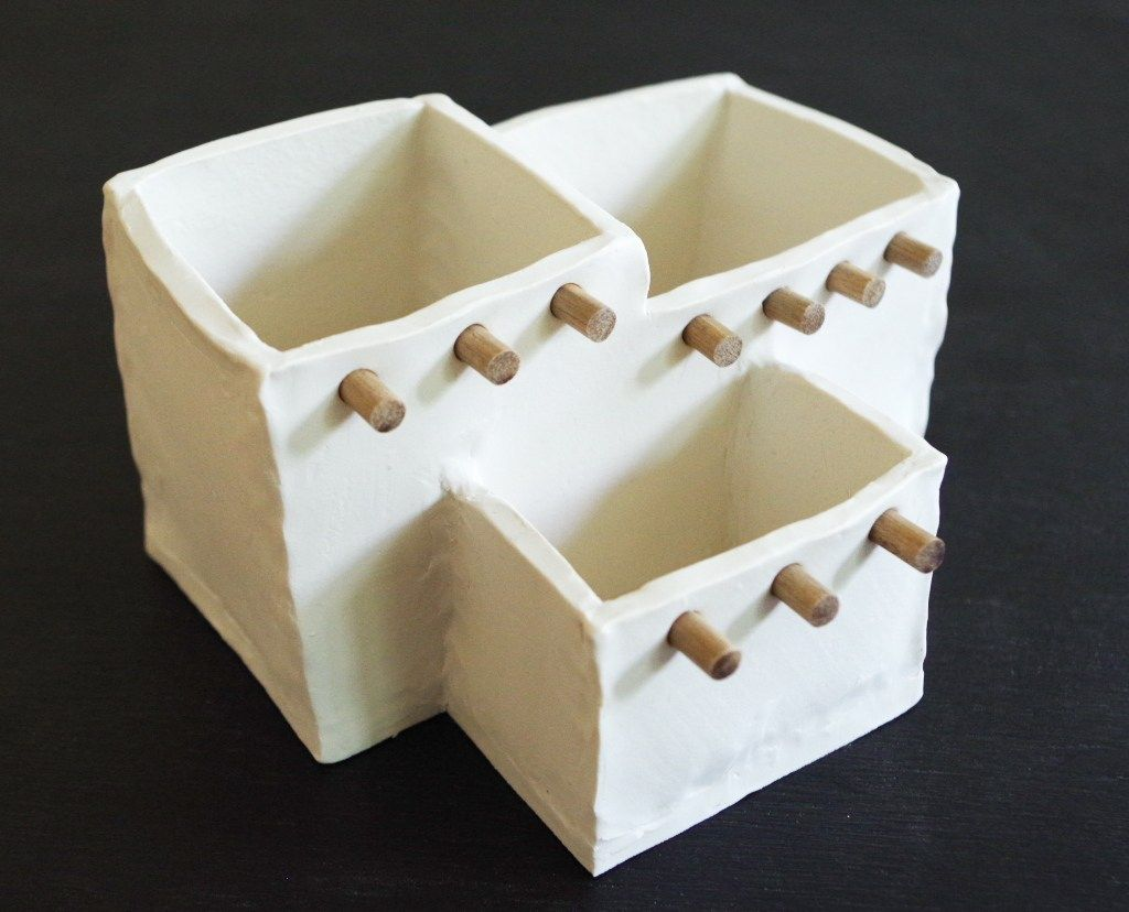 Adobe house planter out of oven bake clay pottery pinterest