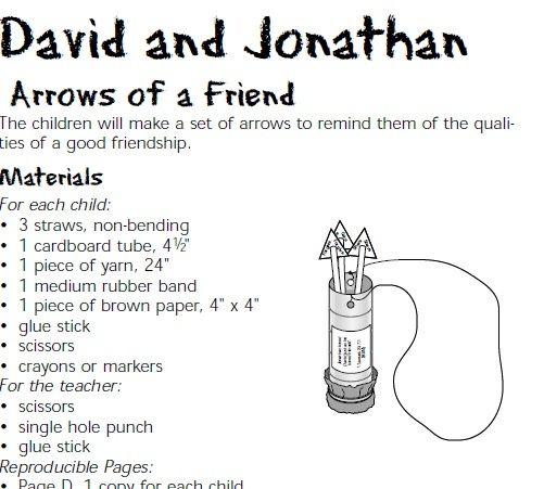 friend david and jonathan - David Jonathan Coloring Pages