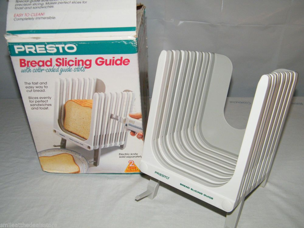 Details About Pre Owned In Box Presto Bread Slicing Guide