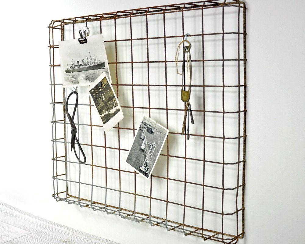 Vintage Wire Display Rack / Metal Basket / Industrial Decor ...